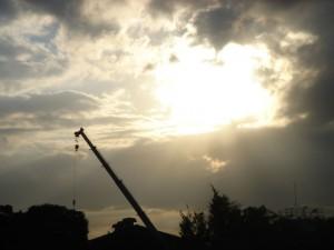 名古屋造形大からは時折すばらしい空にめぐり合う。