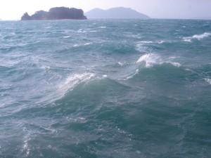 荒々しい瀬戸内海