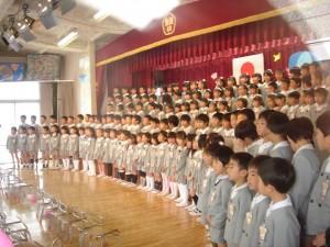 卒園式の一幕